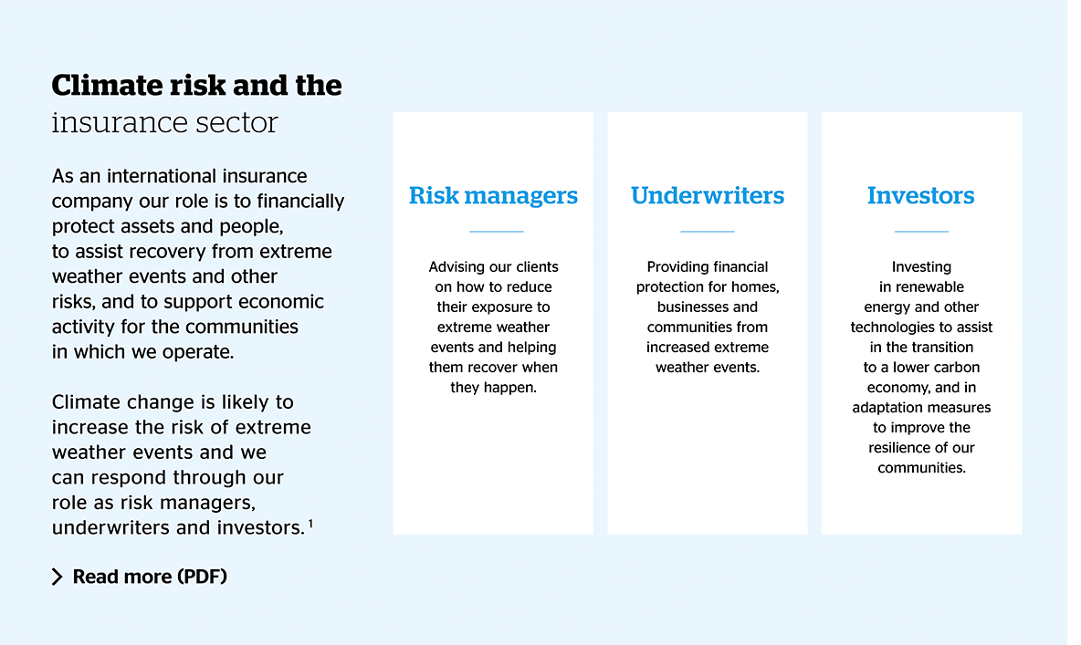 Climate risk and the insurance sector